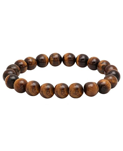 Steeltime Men S Genunie Tiger Eye Stone