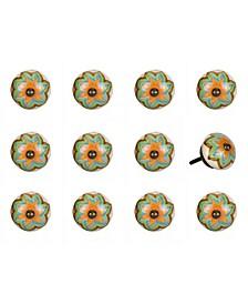 Handpainted Ceramic Knob Set of 12