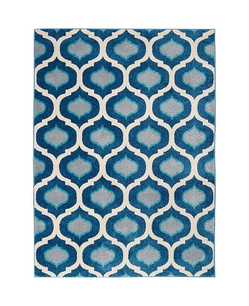 "Global Rug Designs CLOSEOUT! Global Rug Design Venus VEN09 Ivory 5'3"" x 7'2"" Area Rug"