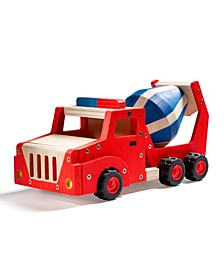 Wooden Cement Mixer Truck Building Set