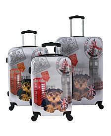 UK 3-Piece Hardside Luggage Set