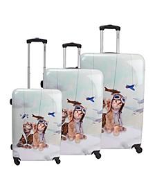 Toms 3-Piece Hardside Luggage Set
