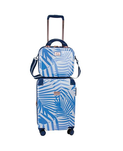 """Chariot Fern 2 Piece 20"""" Carry-On and Beauty Case Set"""