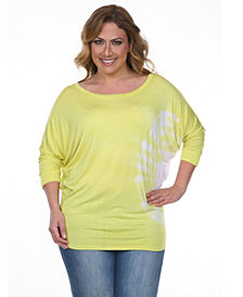 White Mark Plus Size Tie Dye Top/Tunic