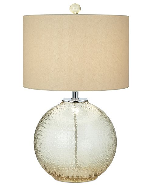 Pacific Coast CLOSEOUT! Glass with Bubble Pattern Table Lamp
