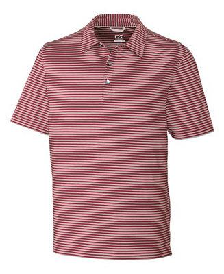 9a0d7df5e40 Cutter & Buck Men's Division Stripe Polo & Reviews - Men - Macy's