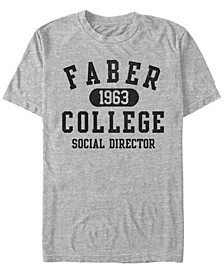 National Lampoon's Men's Faber College Social Director Short Sleeve T-Shirt