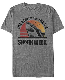 Shark Week Discovery Channel Men's Live Like It's Shark Week Short Sleeve T-Shirt