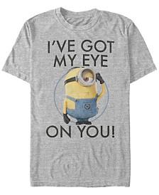 Minions Illumination Men's Despicable Me Got My Eyes On You Short Sleeve T-Shirt
