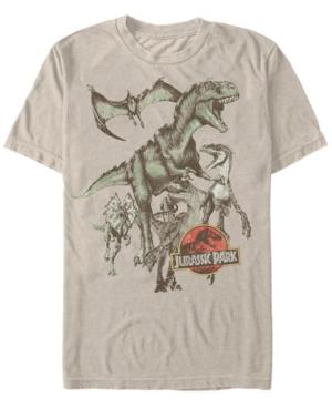 Men's Retro Dinosaur Group Short Sleeve T-Shirt