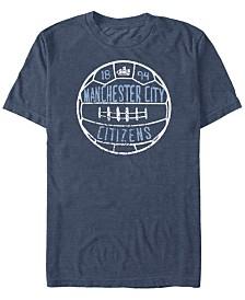 Manchester Football Men's Club Citizens Distressed Ball Short Sleeve T-Shirt