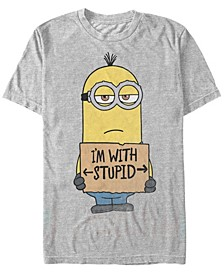 Illumination Men's Despicable Me I'M With Stupid Short Sleeve T-Shirt