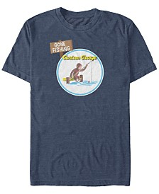 Curious George Men's George Gone Fishing Short Sleeve T-Shirt