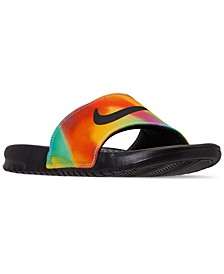 Men's Benassi JDI Print Tie Dye Slide Sandals from Finish Line