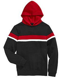 Univibe Big Boys Nolan Colorblocked Stripe Hoodie
