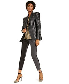 I.N.C. Faux-Leather Blazer & Sequin Top, Created For Macy's