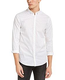 Men's Slim-Fit Stretch Logo Print Shirt