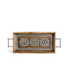 Metal-Inlaid Heritage Collection  Wood Tray