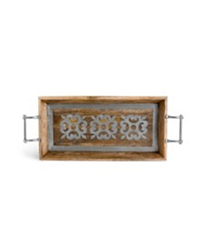The GG Collection Metal-Inlaid Heritage Collection  Wood Tray