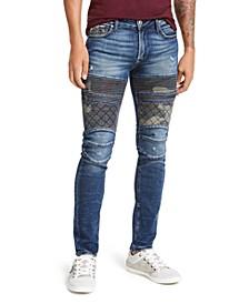 Men's Blocked Moto Skinny Jeans