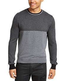 Men's Colorblocked Jacquard Sweater