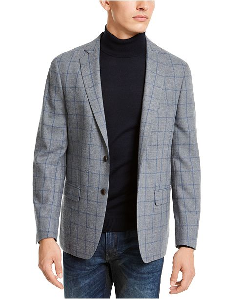 Michael Kors Men's Classic-Fit Windowpane Sport Coat