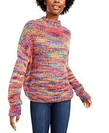 Juniors' Soft Rainbow Sweater