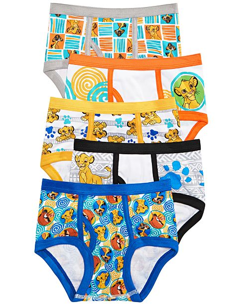 Disney Little & Big Boys 5-Pk. The Lion King Cotton Briefs