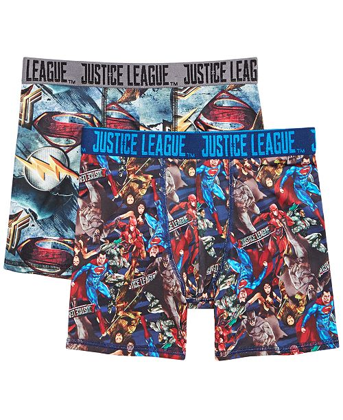 DC Comics 2-Pk. Justice League Boxer Briefs, Little Boys & Big Boys