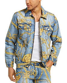 Men's Chain Denim Jacket