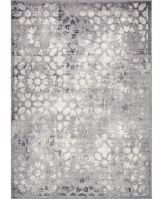 Basha Bas5 Dark Gray 8' x 10' Area Rug