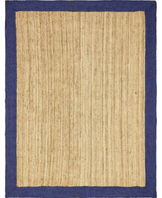Braided Jute A Bja4 Natural 5' x 8' Oval Area Rug
