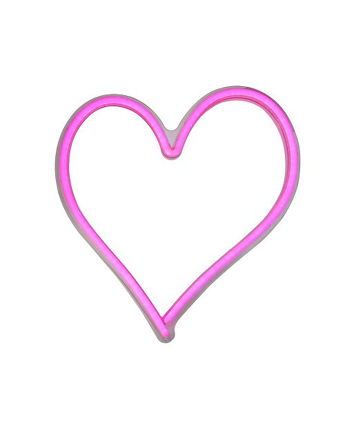 Northlight Neon Style LED Lighted Valentine's Day Heart Window Silhouette Sign