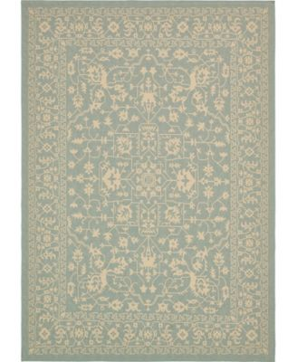 Pashio Pas6 Light Blue 6' x 9' Area Rug