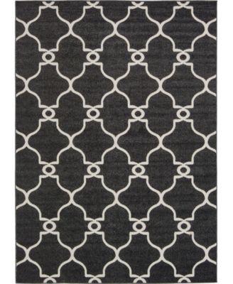 Pashio Pas2 Black 8' x 10' Area Rug