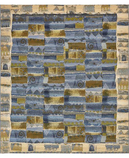 Bridgeport Home Pashio Pas1 Blue Area Rug Collection