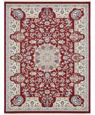 Zara Zar5 Burgundy 8' x 10' Area Rug