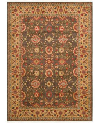 Orwyn Orw1 Light Brown 6' x 6' Round Area Rug