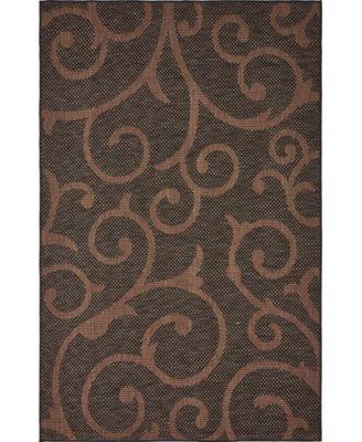Pashio Pas7 Chocolate Brown 9' x 12' Area Rug