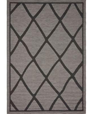 Pashio Pas7 Gray 6' x 9' Area Rug