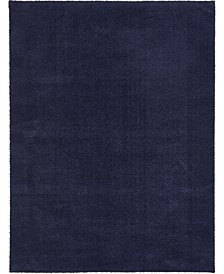 Salon Solid Shag Sss1 Midnight Blue Area Rug Collection