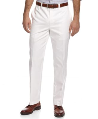 Image of Lauren by Ralph Lauren Solid Cotton Dress Pants