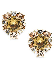 Gold-Tone Crystal & Stone Stud Earrings, Created For Macy's