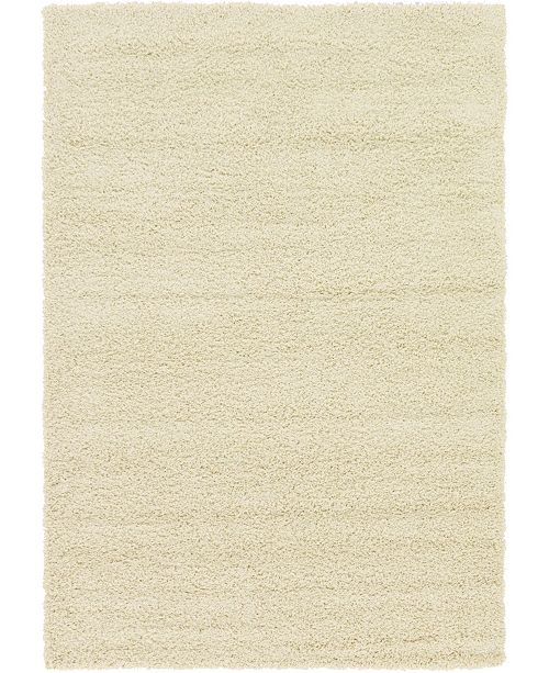 Bridgeport Home Exact Shag Exs1 Pure Ivory Area Rug Collection