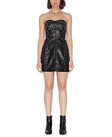 Stretch Faux-Leather Dress