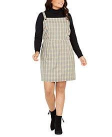 Trendy Plus Size Plaid Jumper Dress