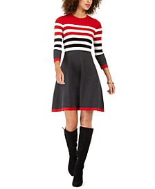 Petite Striped Sweater Dress