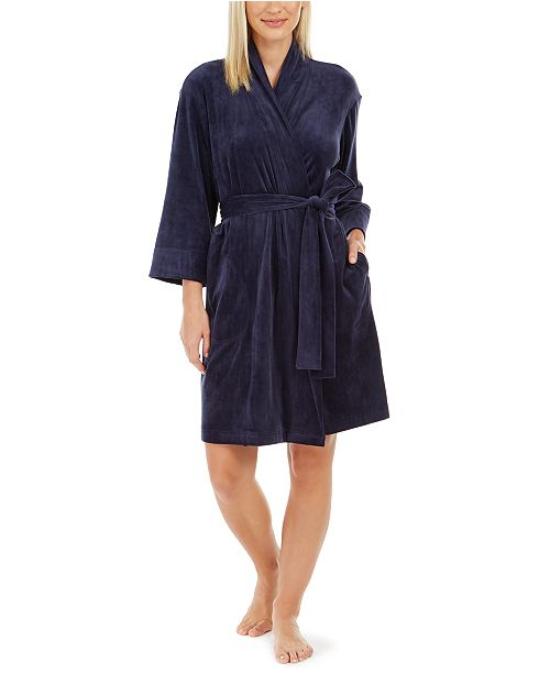 Sesoire Luxe Fleece Short Wrap Robe
