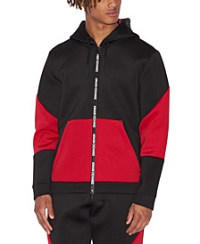 Men's Colorblocked Zip-Front Hoodie