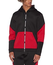 A|X Armani Exchange Men's Colorblocked Zip-Front Hoodie